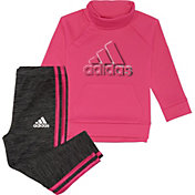 adidas Infant Girls' Fleece Sweatshirt and Tights Set