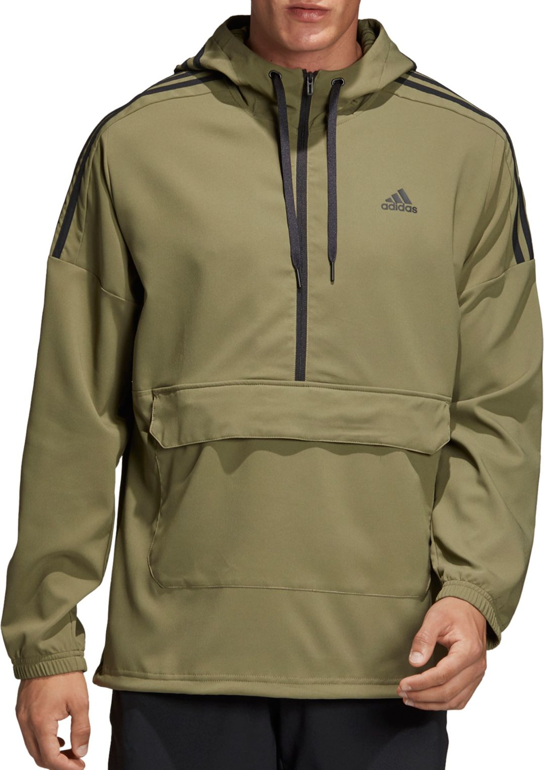 adidas Men's 3 Stripe SID Anorak Jacket