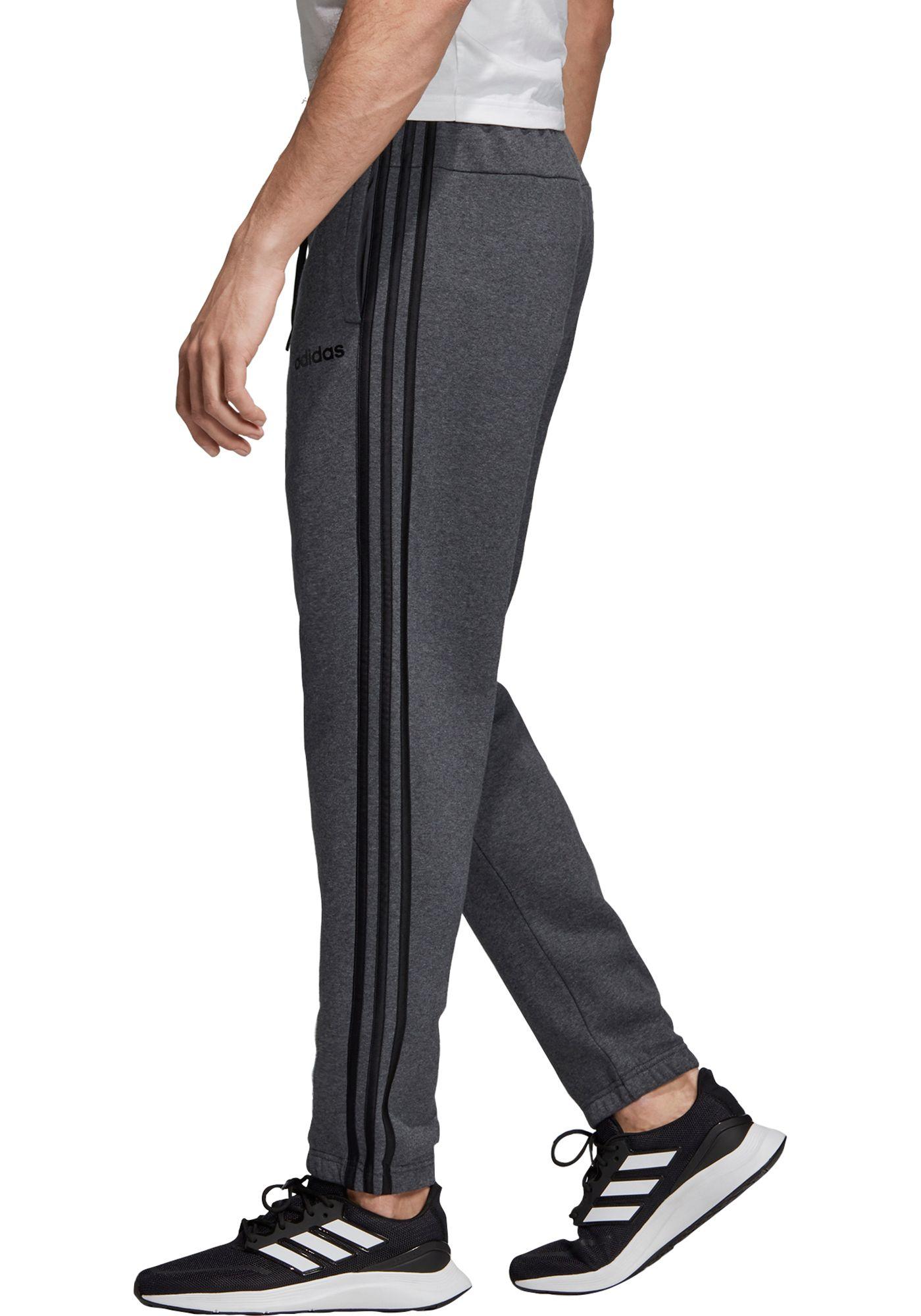 adidas Men's Essentials 3-Stripes Tapered Pants (Regular and Big & Tall)
