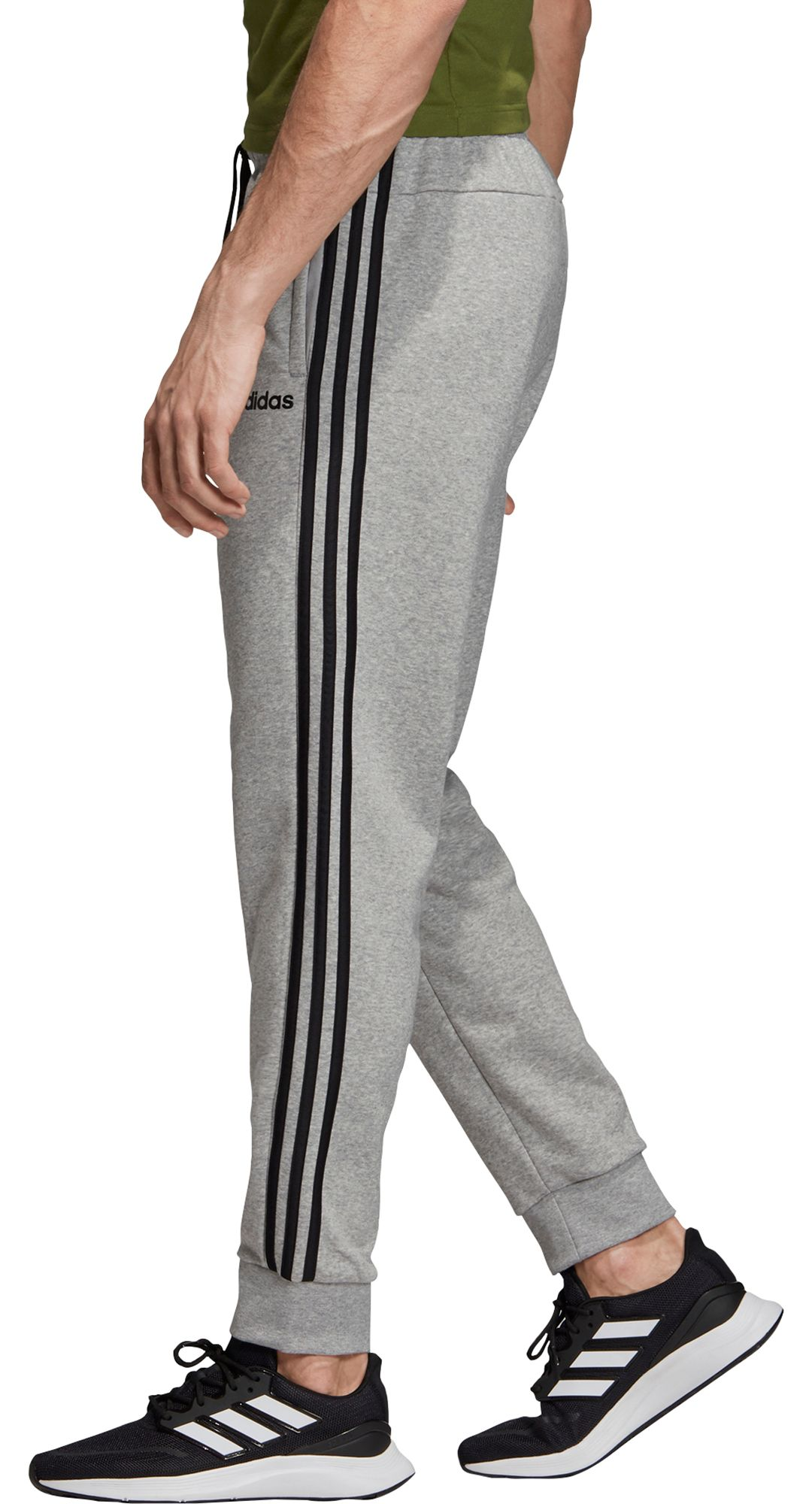 adidas Men's Essentials 3 Stripes Tapered Cuffed Pants