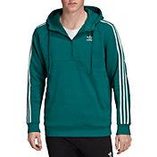 adidas Originals Men's 3-Stripes Half Zip Hoodie