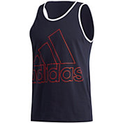 adidas Men's Badge of Sports Outline Sleeveless Shirt