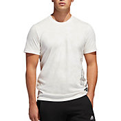adidas Men's Badge Of Sport Wash Vertical Graphic T-Shirt