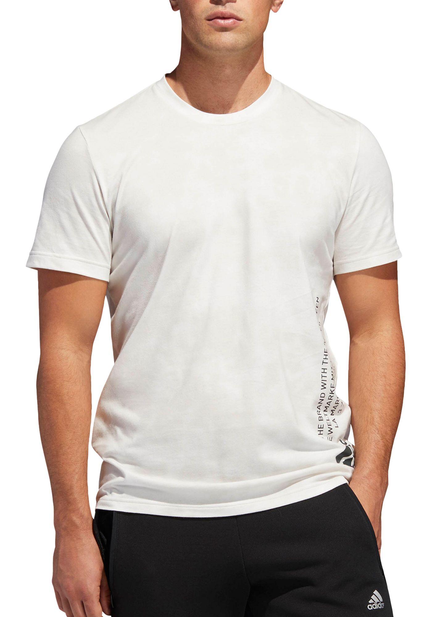 adidas Men's Badge Of Sport Wash Vertical Graphic T-Shirt