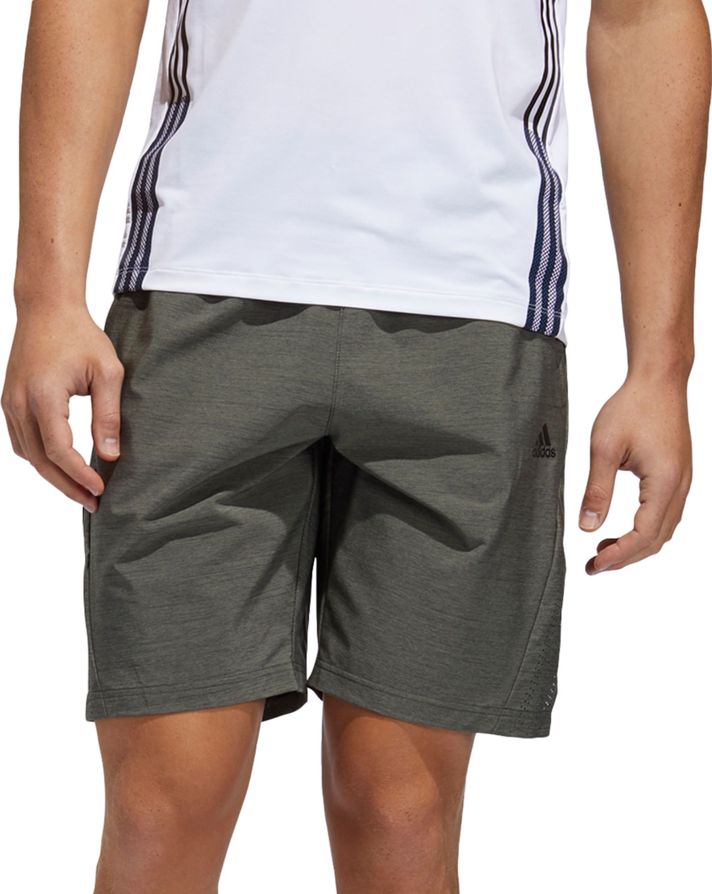 adidas Men's Axis Woven 3S 2.0 Heathered Short