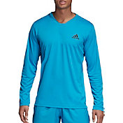 adidas Men's Club UV Protect Long Sleeve Tennis T-Shirt