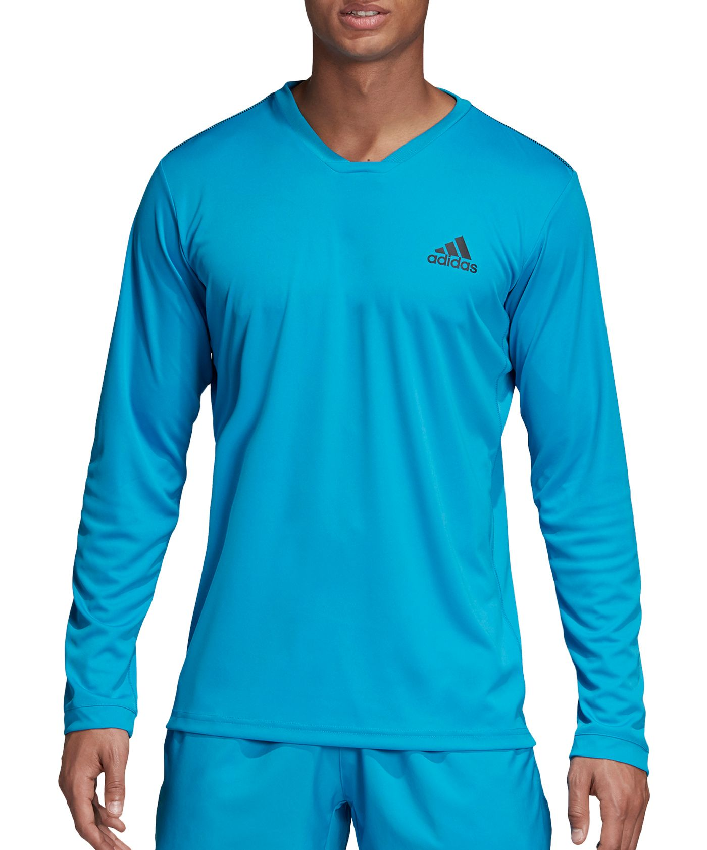 adidas Men's Club UV Protect Long Sleeve Tennis T-Shirt