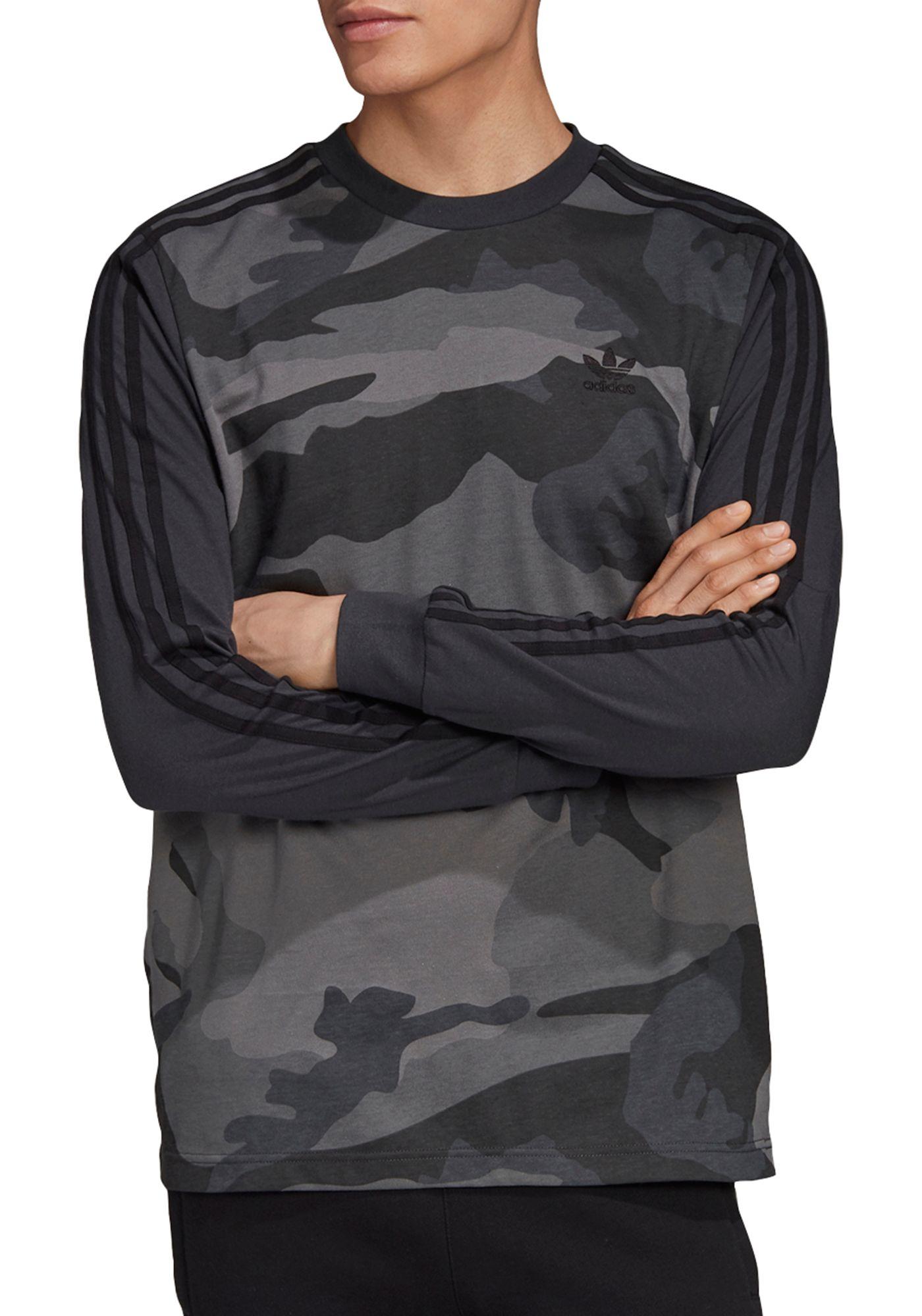 adidas Originals Men's Camouflage Long Sleeve Shirt