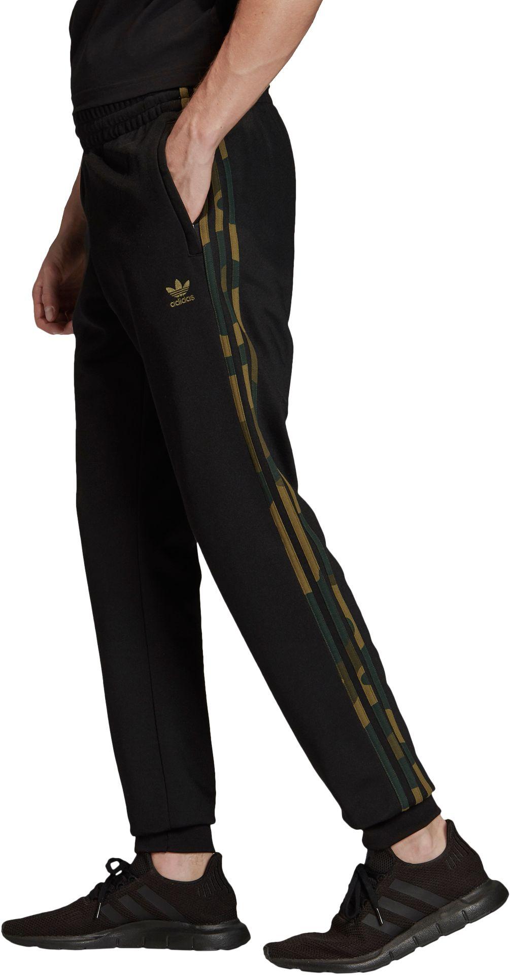adidas Originals Men's Camouflage Track Pants, Size: Small, Black thumbnail