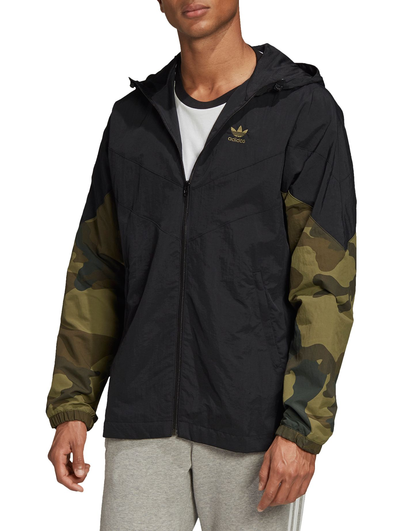 adidas Men's Camo Windbreaker Jacket