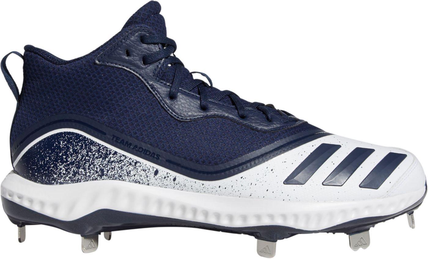 adidas Men's Icon V Bounce Mid Metal Baseball Cleats