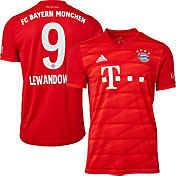 adidas Men's Bayern Munich '19 Stadium Robert Lewandowski #9 Home Replica Jersey