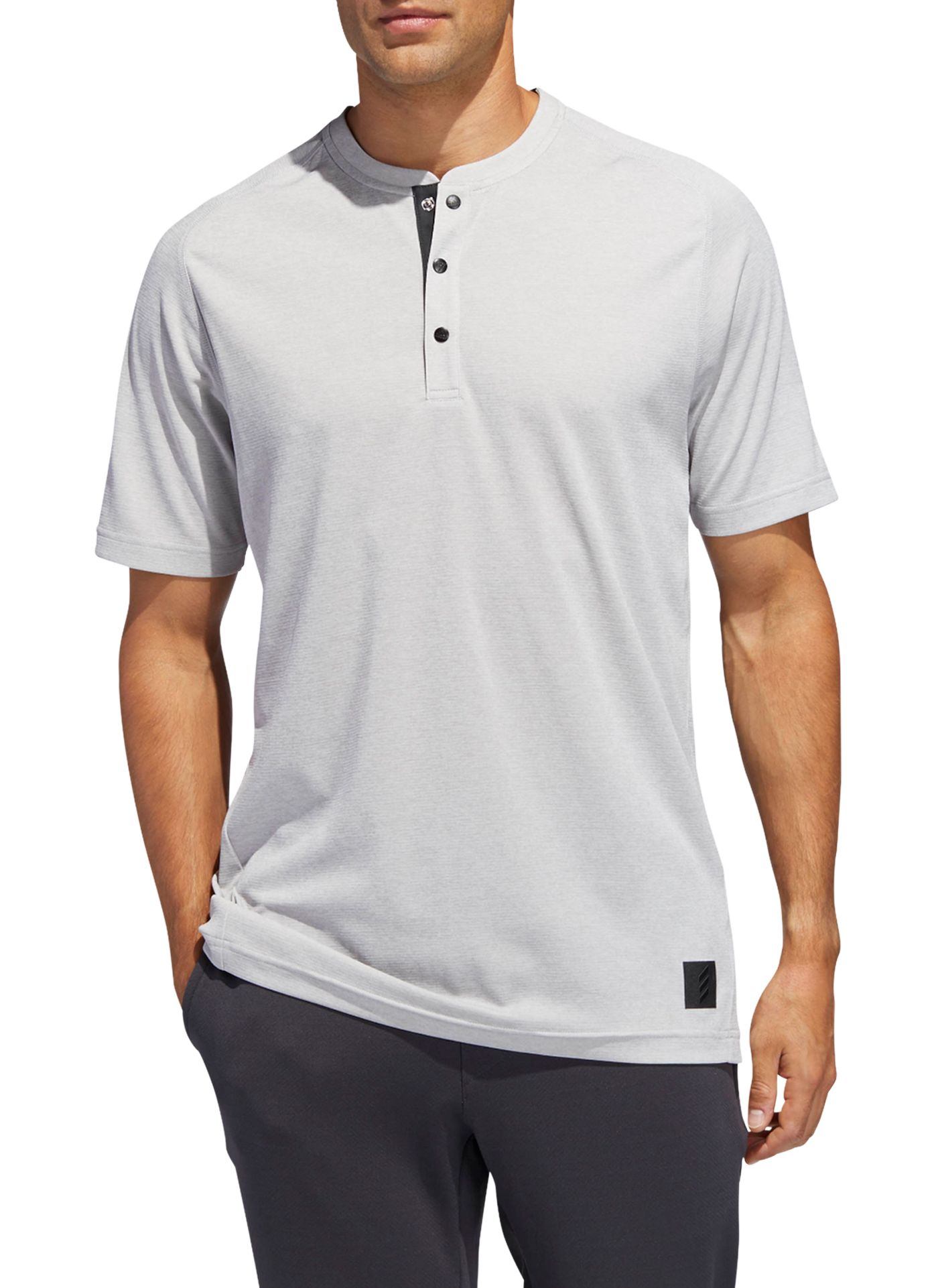 adidas Men's Adicross Transition Henley Golf Shirt
