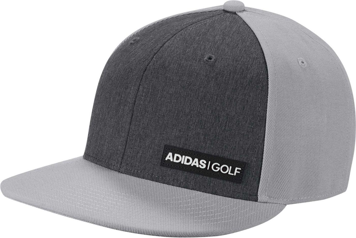 adidas Men's Heathered Flat-Bill Golf Hat