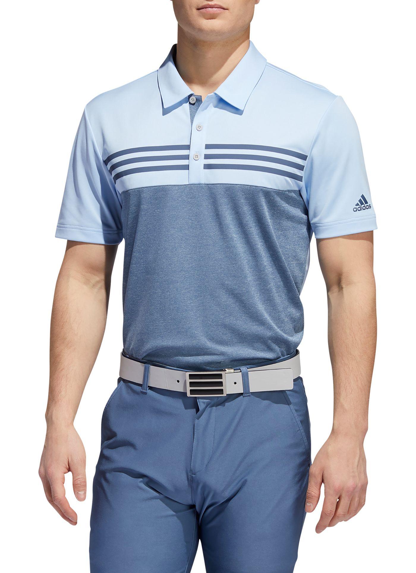 adidas Men's Heather Color Block Golf Polo