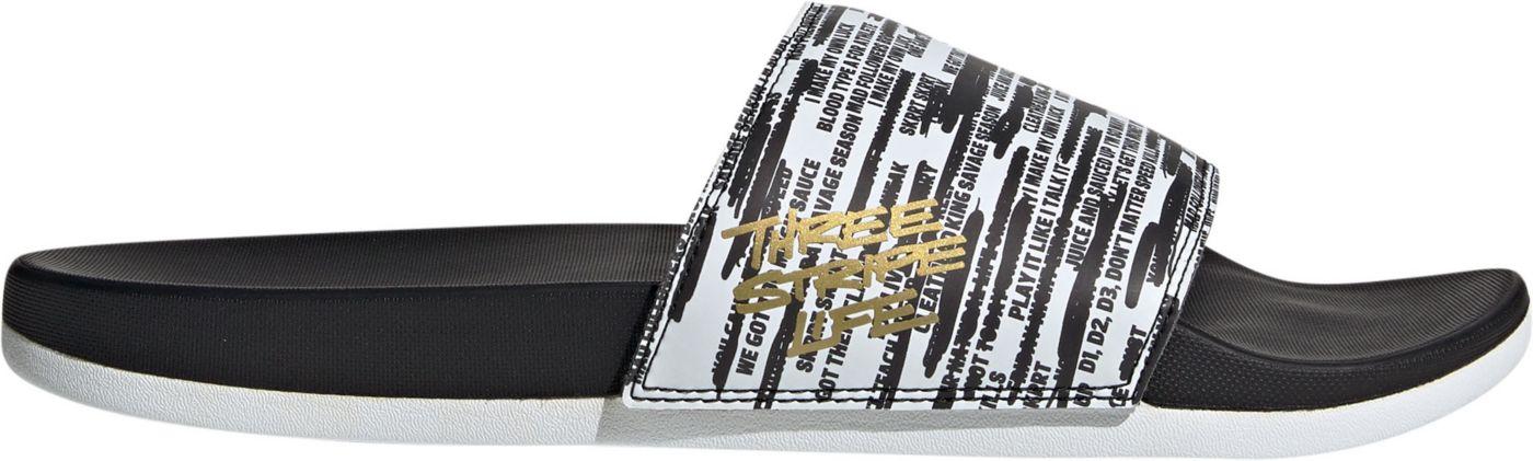 adidas Men's Adilette Three Stripe Life Comfort Slides