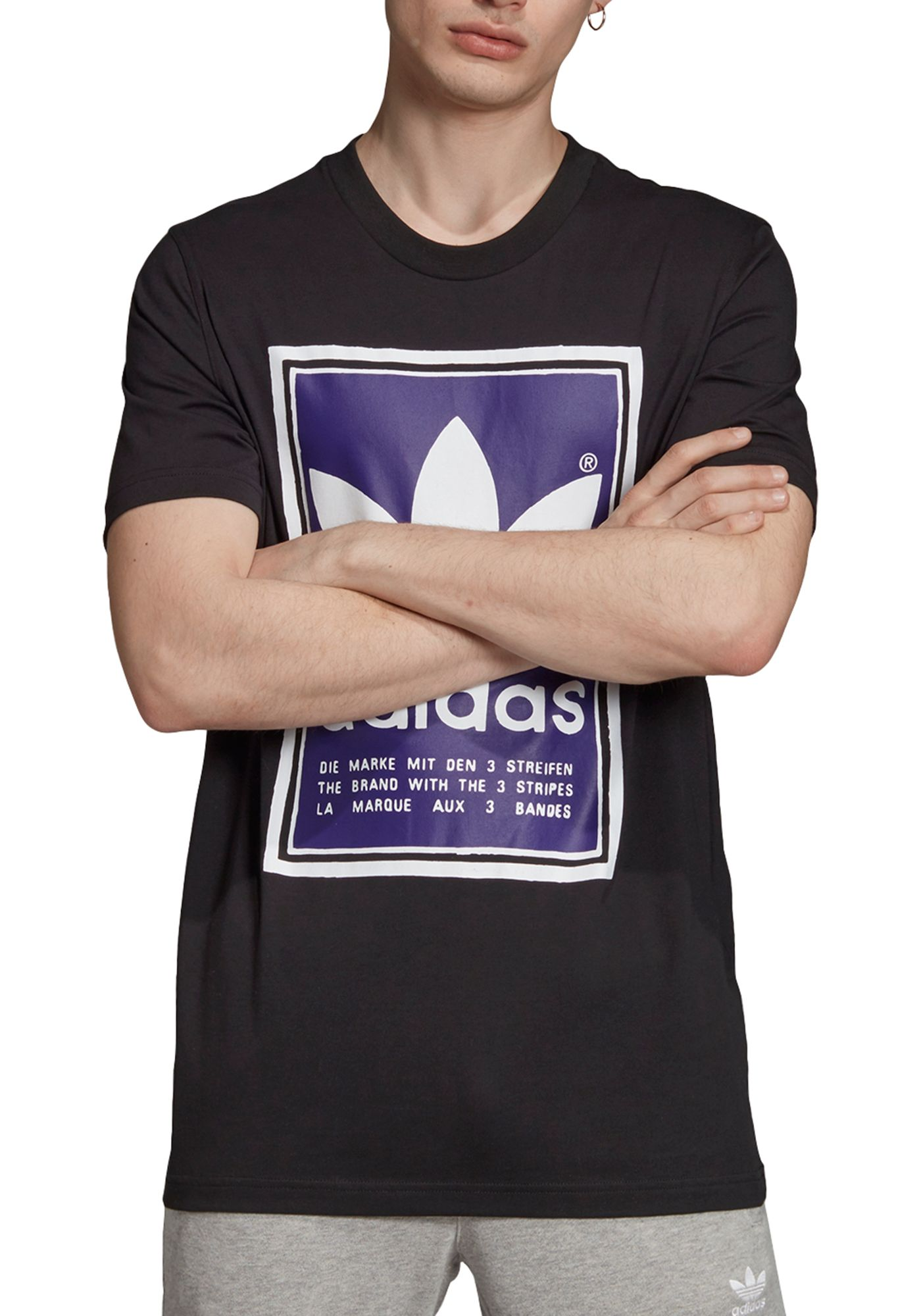 adidas Originals Men's Filled Label Graphic T-Shirt