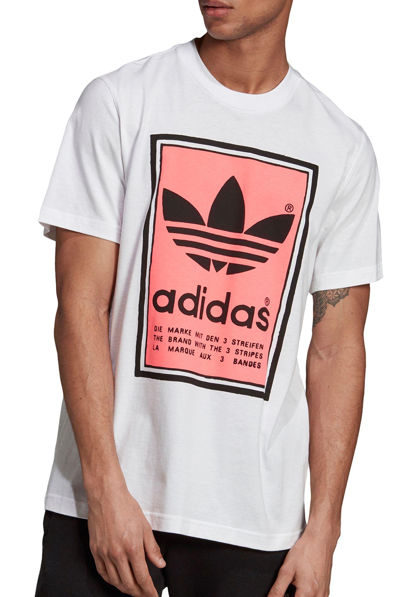 adidas Originals Men's Filled Label Graphic T-Shirt
