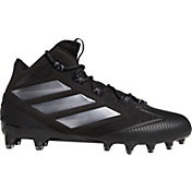 adidas Men's Freak Carbon Mid Football Cleats in Black/Silver