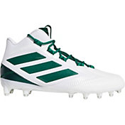 adidas Men's Freak Carbon Mid Football Cleats in White/Green