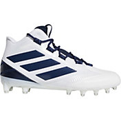 adidas Men's Freak Carbon Mid Football Cleats in White/Navy