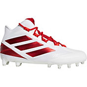 adidas Men's Freak Carbon Mid Football Cleats in White/Red