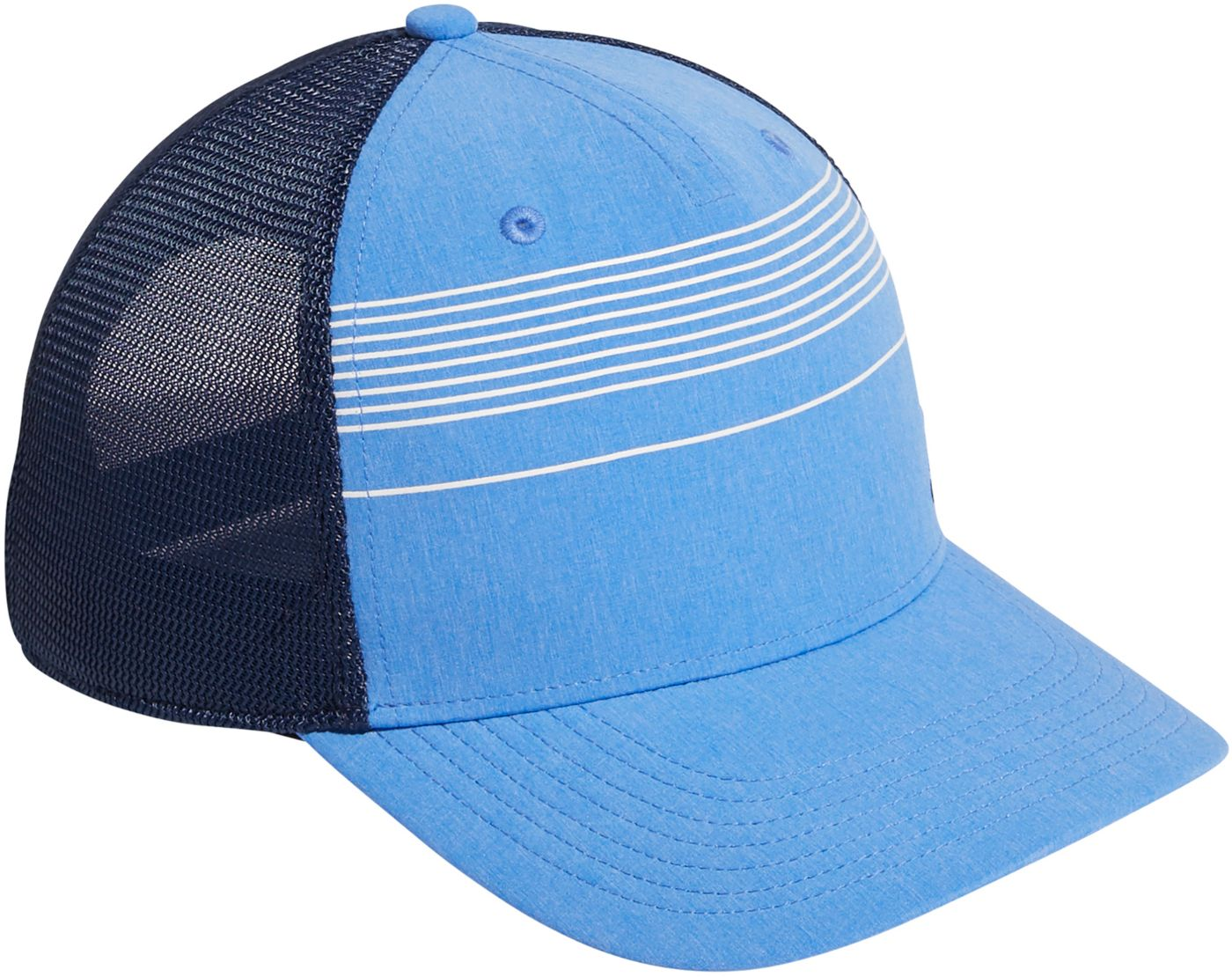 adidas Men's Striped Trucker Golf Hat