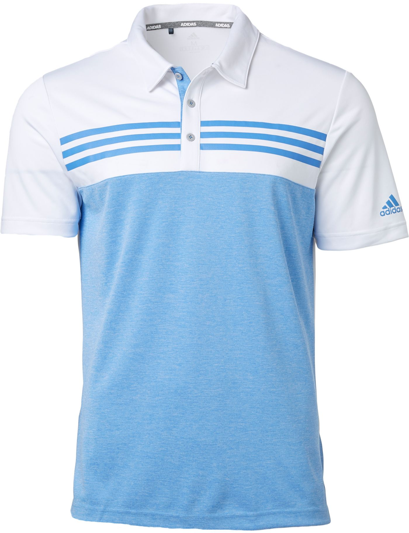 adidas Men's Drive Heather Block Golf Polo