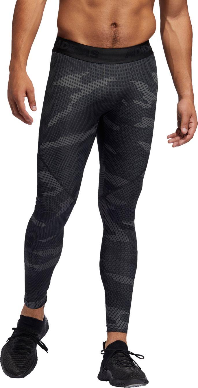 adidas Men's Alphaskin Camouflage Tights
