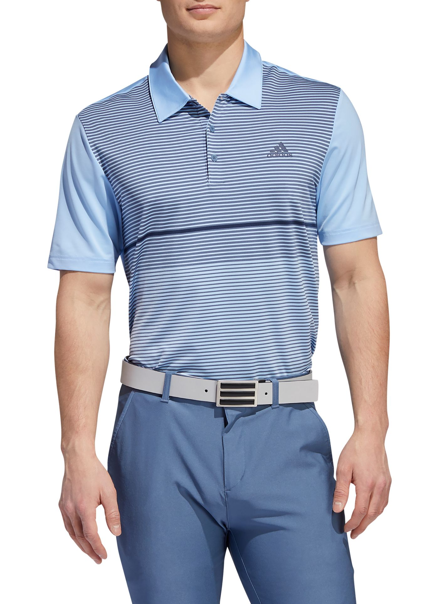 adidas Men's Ultimate365 Striped Colorblock Golf Polo