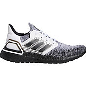 adidas Men's Ultraboost 20 Running Shoes in White/Black/White