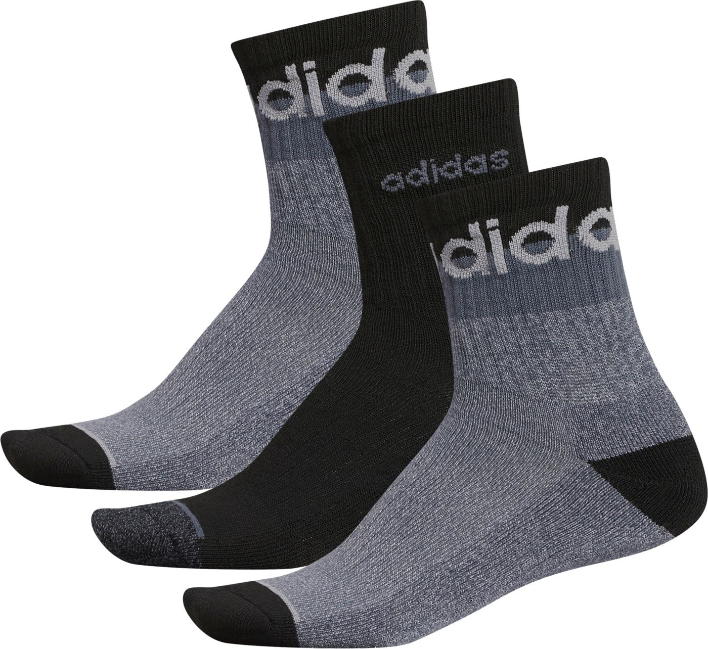 adidas Men's 3 Stripe High Quarter Socks 3 Pack