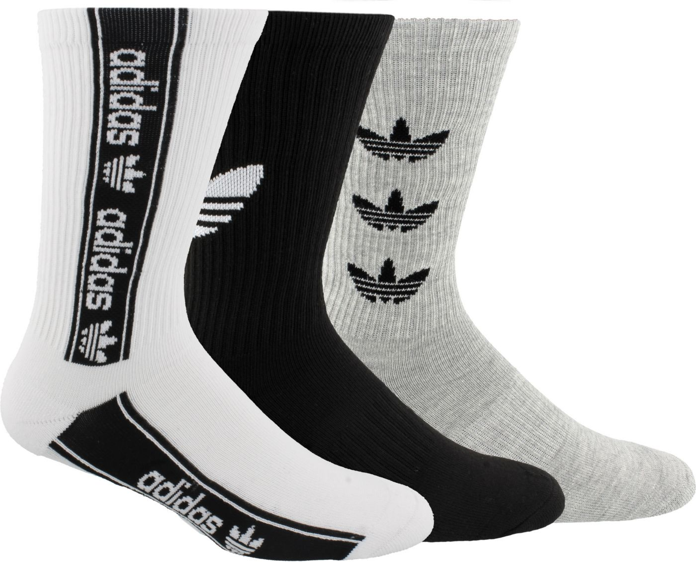 adidas Originals Men's Triple Branded Crew Socks - 3 Pack