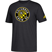 adidas Men's Columbus Crew Big Logo Black T-Shirt