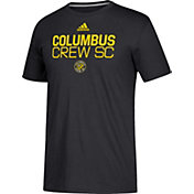 adidas Men's Columbus Crew Logo Black Performance T-Shirt