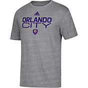 adidas Men's Orlando City Locker Heather Grey Tri-Blend T-Shirt