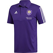 adidas Men's Orlando City Coaches Purple Performance Polo