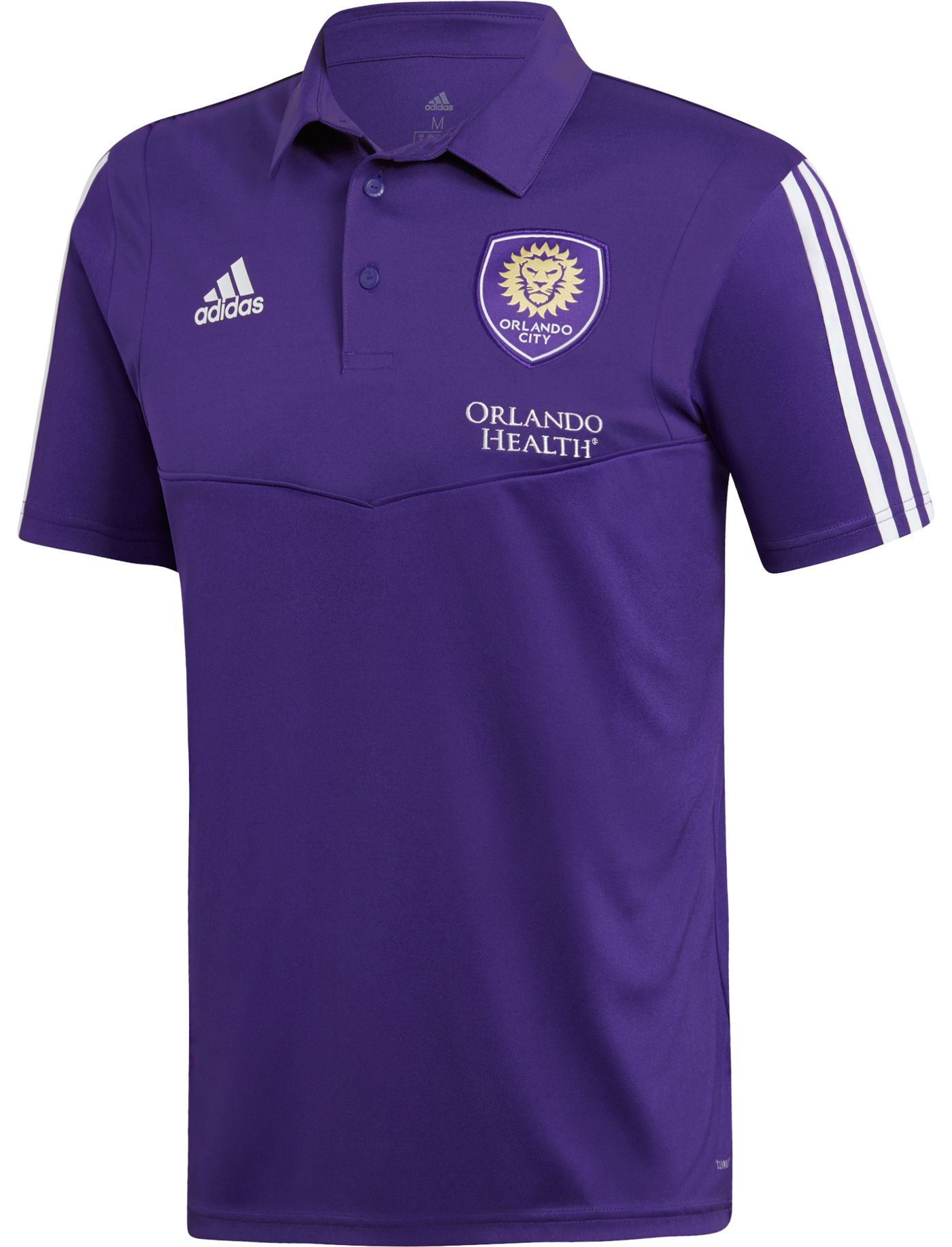 adidas Men's Orlando City Coaches Purple Performance Polo