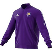 adidas Men's Orlando City Anthem Purple Full-Zip Jacket