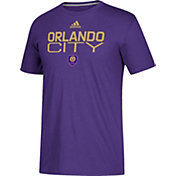 adidas Men's Orlando City Logo Purple Performance T-Shirt