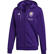 adidas Men's Orlando City Travel Purple Full-Zip Hoodie