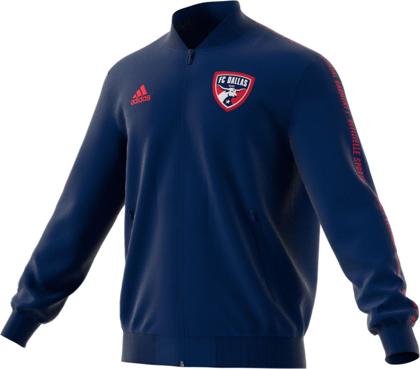 adidas Men's FC Dallas Anthem Navy Full-Zip Jacket