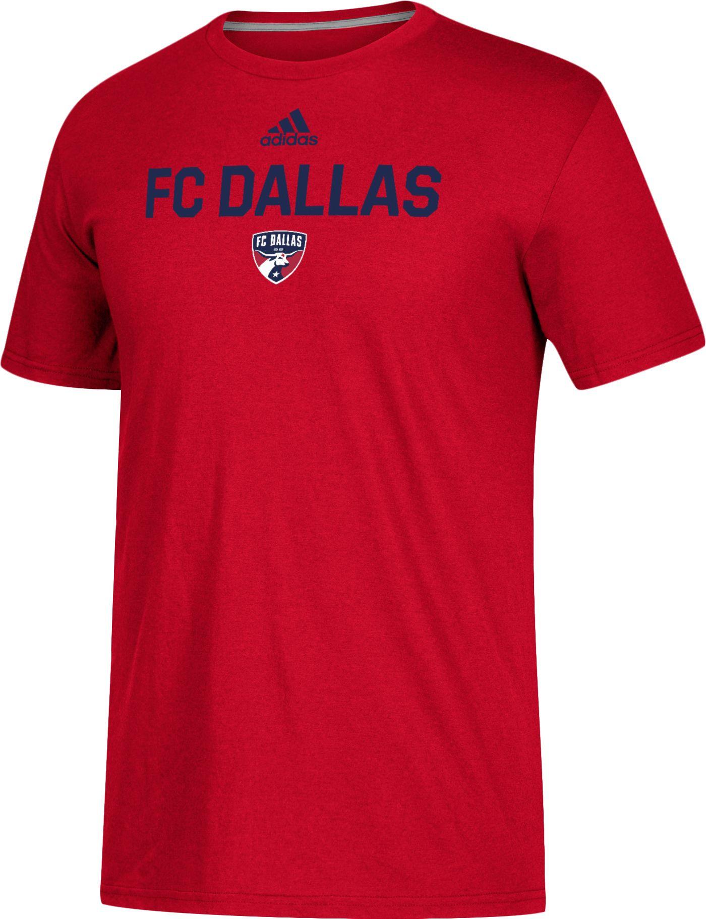 adidas Men's FC Dallas Logo Red Performance T-Shirt