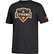 adidas Men's Houston Dynamo Big Logo Black T-Shirt