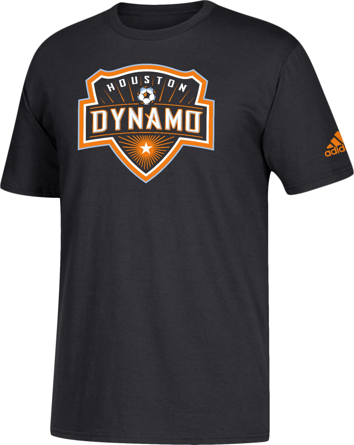 adidas Men's Houston Dynamo Big Logo Black T-Shirt