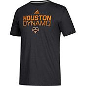 adidas Men's Houston Dynamo Logo Black Performance T-Shirt