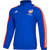 adidas Men's FC Cincinnati Travel Blue Full-Zip Jacket