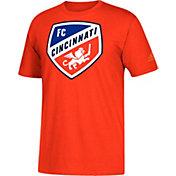 adidas Men's FC Cincinnati Logo Gray T-Shirt