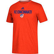 adidas Men's FC Cincinnati Logo Performance Orange T-Shirt