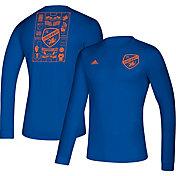 adidas Men's FC Cincinnati Iconic Royal Long Sleeve Shirt